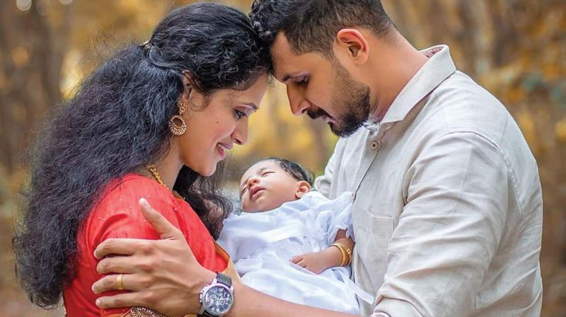 Stephy, husband Eudrick Pereira and baby
