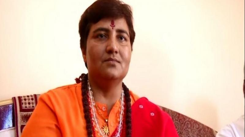 Pragya said: 'Conspirators went to the extent of treating me inhumanly during the last nine years when I was in custody. I have been given clean chit by the investigative agency.' (Photo: ANI)