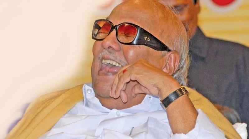 Late DMK president Muthuvel Karunanidhi.