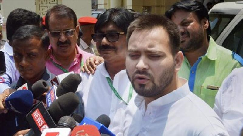 Rashtriya Janata Dal (RJD) leader Tejashwi Yadav on Wednesday said Deputy Chief Minister Sushil Kumar Modi is on the side of Chief Minister Nitish Kumar's party and that is why BJP does not have any face for the Assembly polls. (Photo: File)