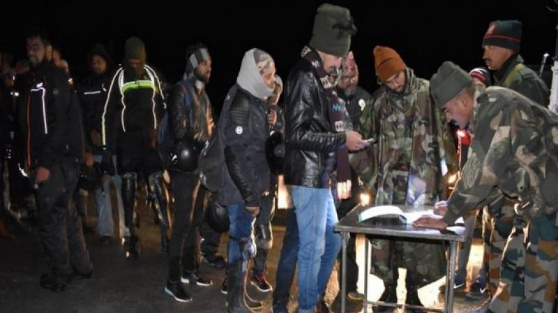 Rescued tourists wrote thanksgiving messages for the Indian Army during their stay at the camps. (Photo: ANI)