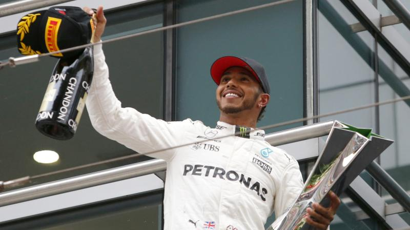 Lewis Hamilton steered his Mercedes to his fifth Chinese Grand Prix win. (Photo: AP)