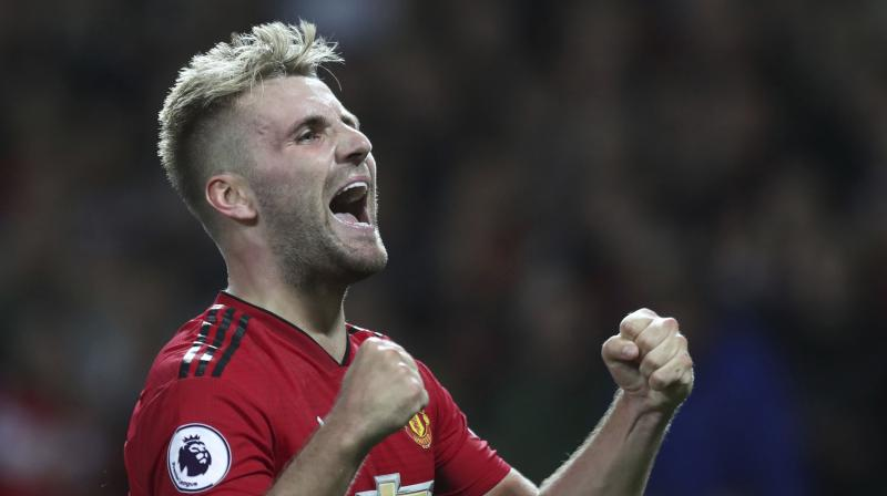 It was the first senior goal for former England and Southampton defender Shaw, on the 23-year-old left-back's 141st appearance. (Photo: AP)