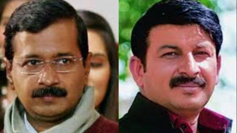 """Addressing a press conference, Kejriwal said, """"If NRC is implemented in Delhi, Manoj Tiwari will have to first leave Delhi."""" (Photo: ANI)"""