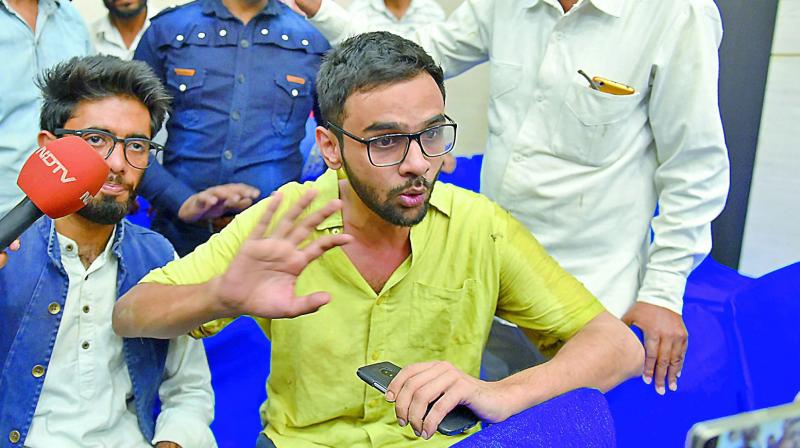 JNU student Umar Khalid was attacked on Monday when he was on his way to take part in an event at the Constitution Club after having tea at a shop outside the venue. (Photo: File)