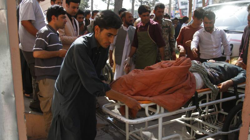 The explosion occurred in the Shawiz area when a bus carrying dozens of passengers was en route to Farah province from Herat, an official of Herat hospital, Mohammad Ibrahim Mohammadi. (Photo: AP)