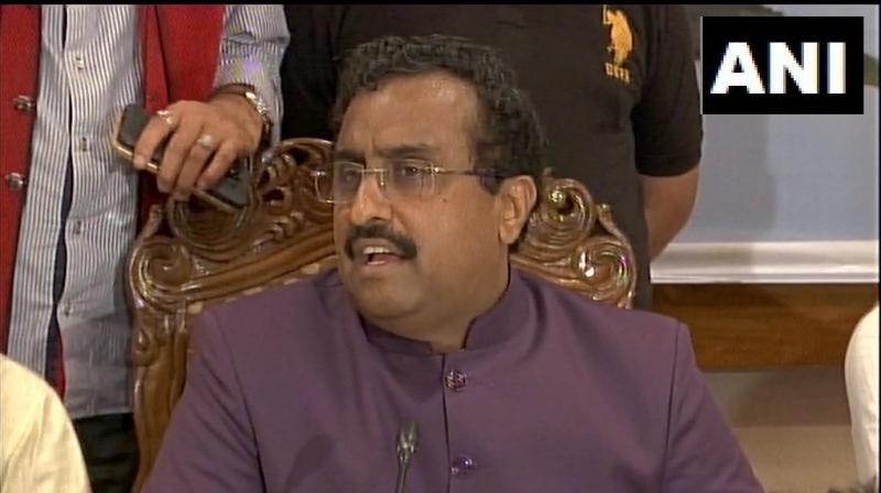 """Calling out Pakistan for fuelling terrorism in India, BJP national general secretary Ram Madhav on Monday said that New Delhi wants a good relationship with all its neighbours but """"not at the gunpoint"""". (Photo: File)"""