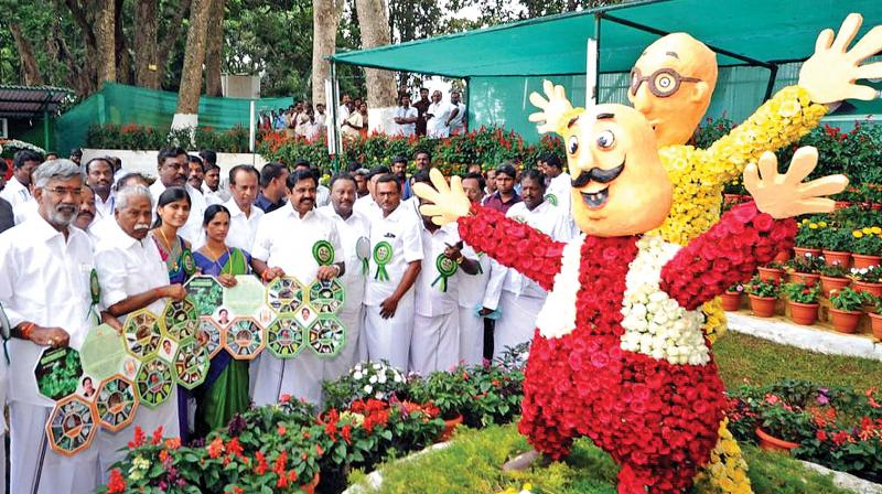 CM inaugurating 43rd Summer festival and Flower show at Yercaud hills on Saturday.  (Photo:DC)