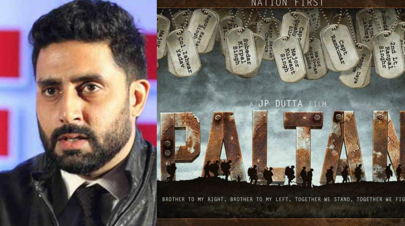 The poster of 'Paltan' that Abhishek Bachchan shared on Twitter.