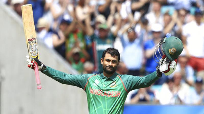 Tamim Iqbal set up a 166-run partnership for the third wicket with Mushfiqur Rahim to help Bangladesh reach the massive score. (Photo: AP)