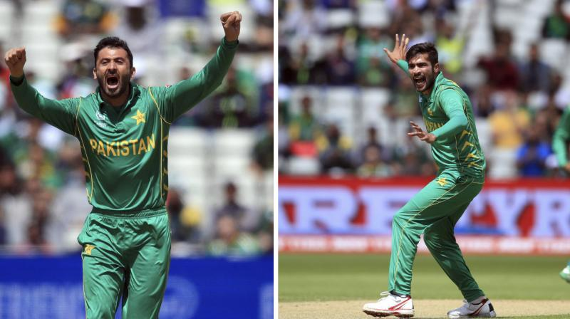 Mohammed Amir will represent Essex, while Junaid Khan will play for Leicestershire in English County. (Photo:AP)