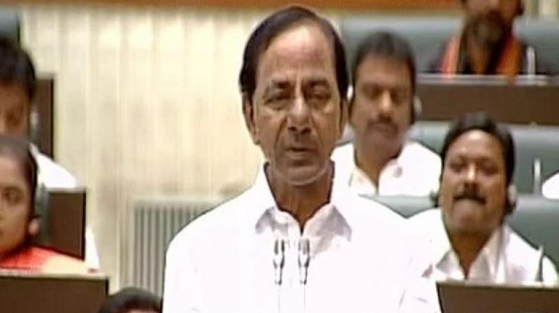 Telangana Chief Minister K Chandrashekar Rao. (Photo: Twitter   ANI)