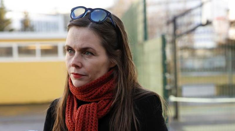 The Left-Green Movement's Katrin Jakobsdottir, will likely get a chance to form a narrow majority in parliament. (Photo: AP)