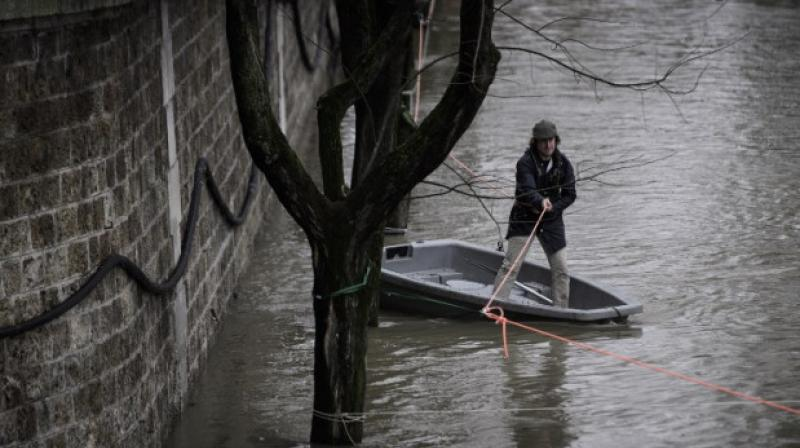 Around 1,500 people had been evacuated from their homes in the greater Paris region, according to police, while 1,900 households were without electricity. (Photo: AFP)