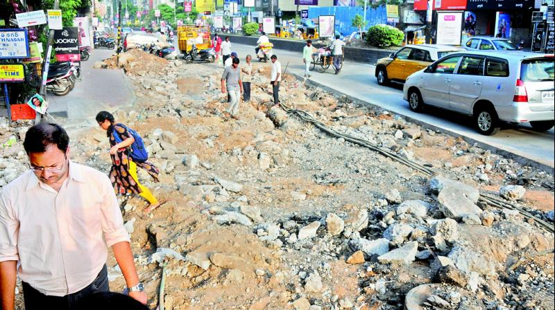 The company will soon begin works within the corporation limits, cutting roads using an open trenching method which will entirely damage them. (Image: DC)