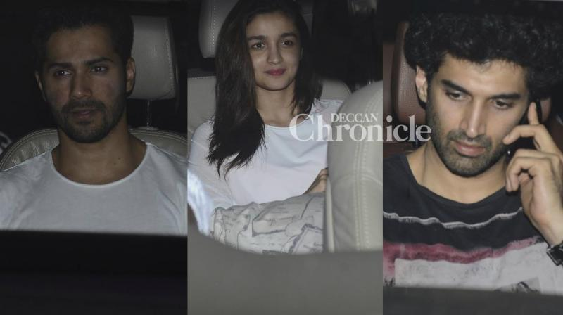 Several Bollywood celebs were seen arriving at Karan Johar's house and some of them were seen arriving at Kareena Kapoor Khan's house late Wednesday to spend time with the new arrivals, Yash, Roohi and Taimur. (Photo: Viral Bhayani)