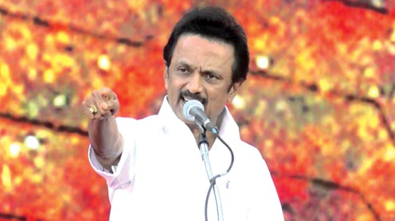 DMK Chief M K Stalin accuses AIADMK-PMK allaince was formed not for the benefit of the country, but for monetary gain. (Photo: File)