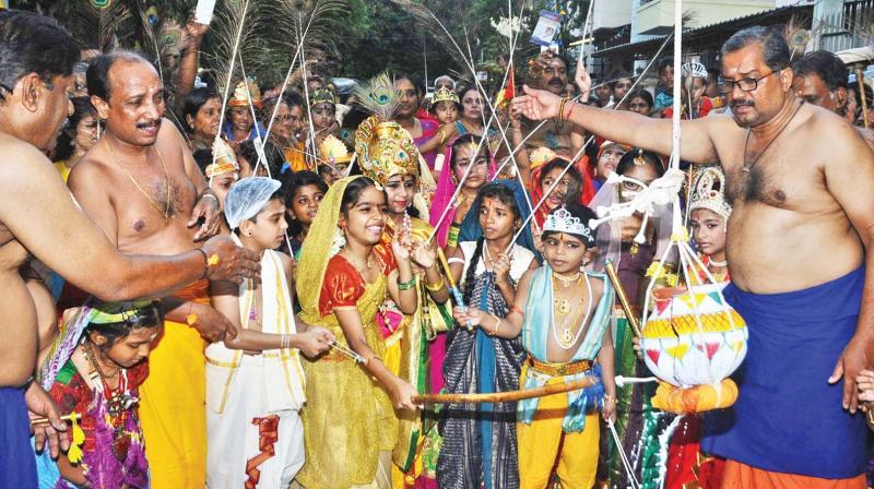 Sri Krishna Jayanthi celebrations in city. (Photo:DC)