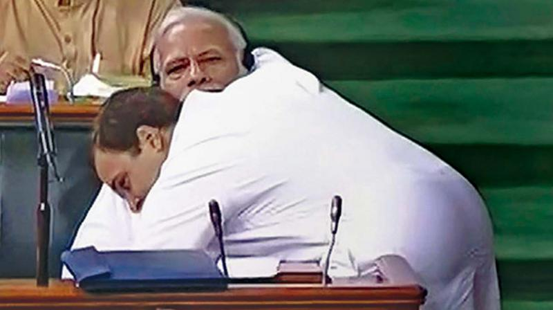 Recalling how Rahul Gandhi had hugged PM Modi during debate on no-confidence motion and his subsequent wink, Rao said, 'Rahul Gandhi is the biggest buffoon in this country.' (Photo: File | ANI)