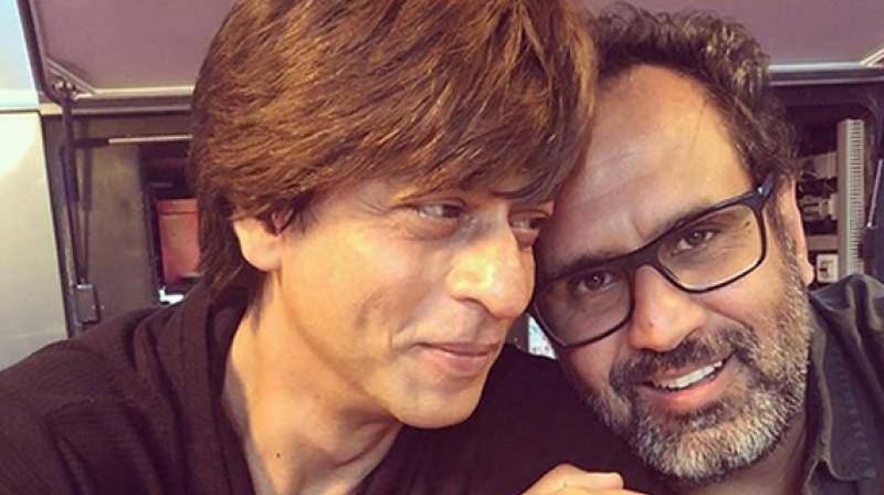 Shah Rukh Khan and Aanand L Rai during 'Zero' shoot.
