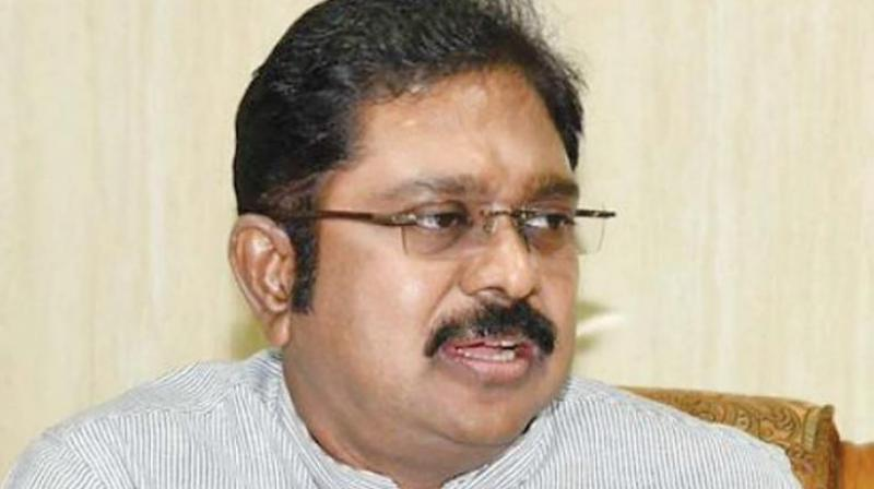 The Election Commission (EC) has rejected a plea of sidelined AIADMK leader TTV Dhinakaran to grant 15 days additional time to submit affidavits in the party symbol dispute case. (Photo: File | PTI)