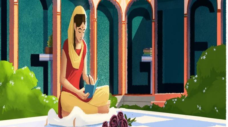 Google honours Punjabi writer Amrita Pritam with doodle