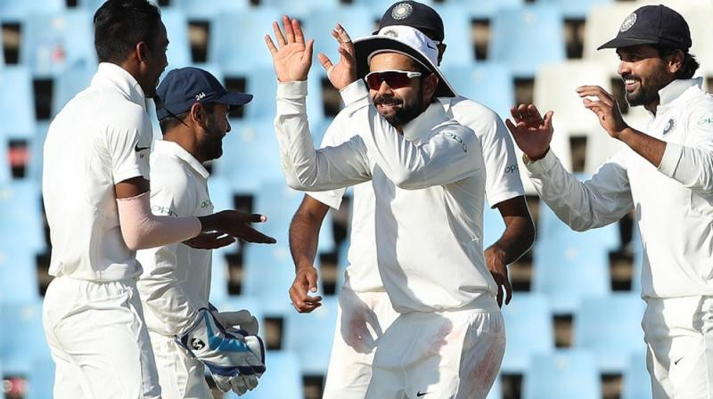 India shifted the momentum in their favour with 3 quick wickets before the end of day's play. (Photo: BCCI)