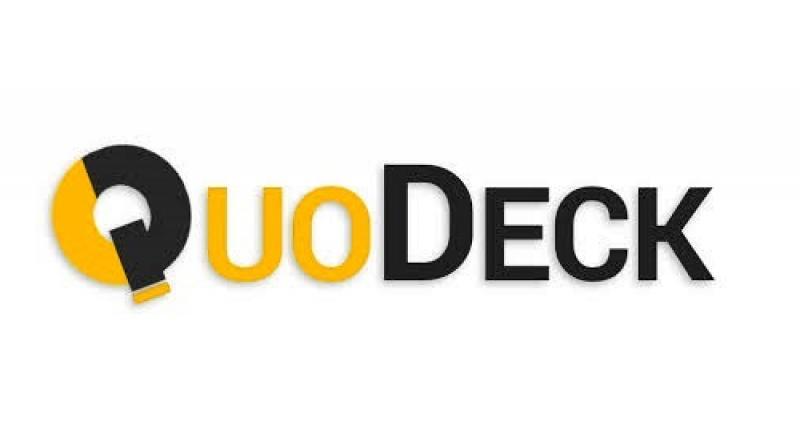 QuoDeck logo.