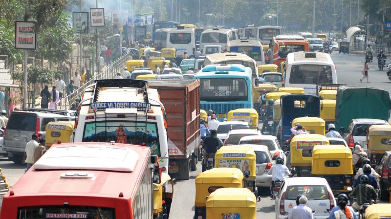 """Bengaluru Mayor Sampath Raj said, """"We have been receiving a lot of complaints about traffic jams because of white topping works."""