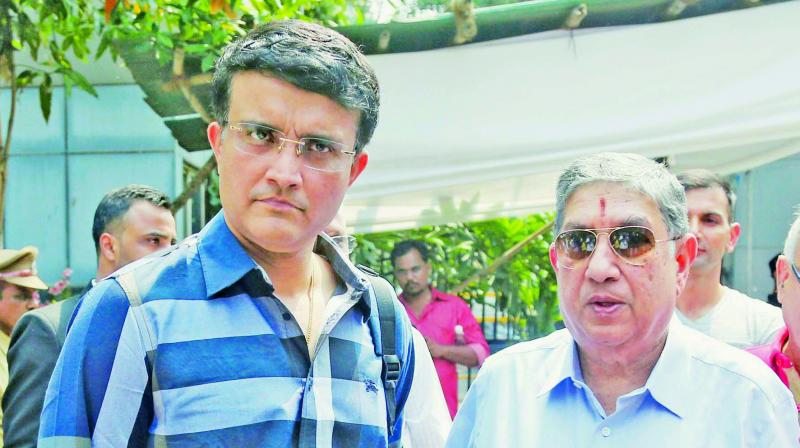 Sourav Ganguly with N. Srinivasan.