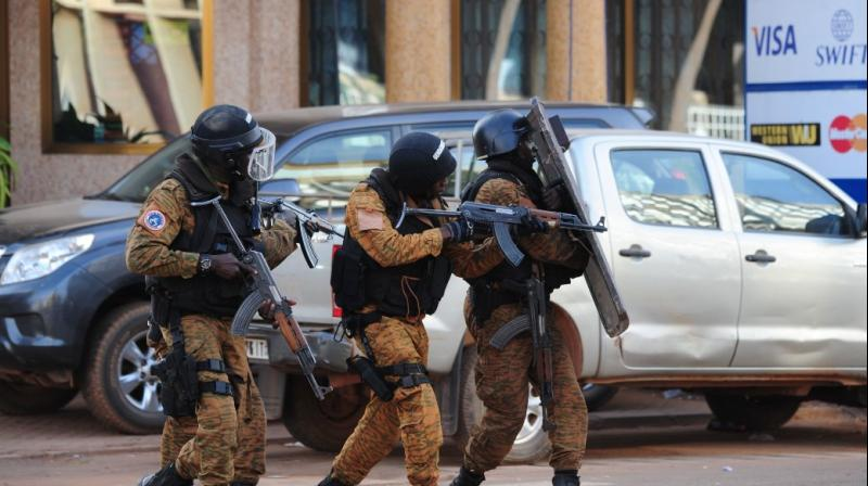 Security forces arrived at the scene with armored vehicles after reports of shots fired near Aziz Istanbul, an upscale restaurant in Ouagadougou. (Photo: AFP)