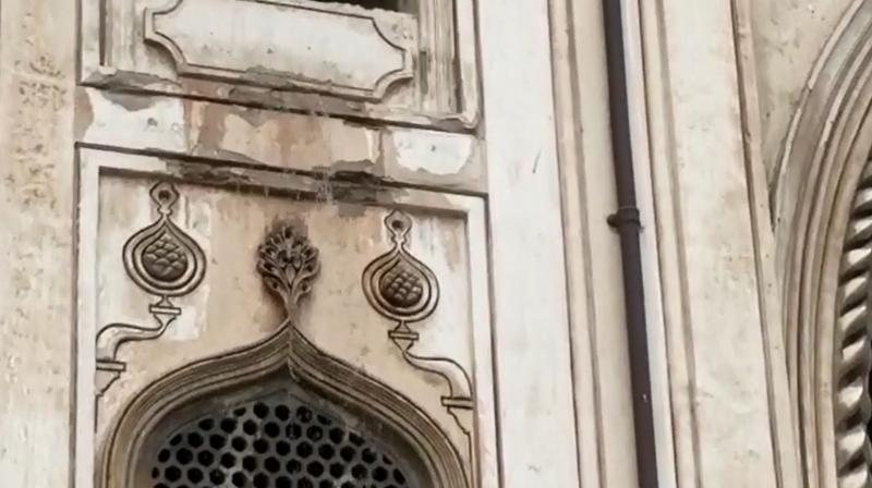 Videos of the water flowing out from the minaret were circulated on social media too.