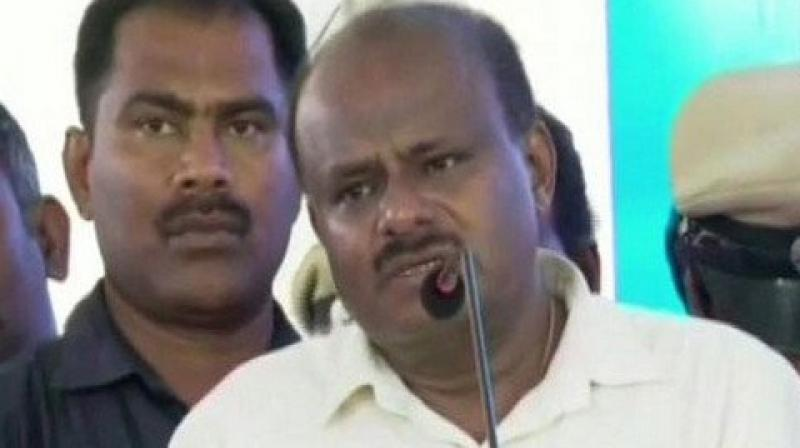 'What is the necessity for me to resign now. In 2009-10 when Yeddyurappa was Chief Minister of Karnataka then 18 MLAs had opposed him. But ultimately what happened?, ' Kumaraswamy told reporters here. (photo: ANI)