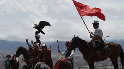 The festival showcases the rich history and nomadic customs of the Kyrgyz people.(Photo: AFP)