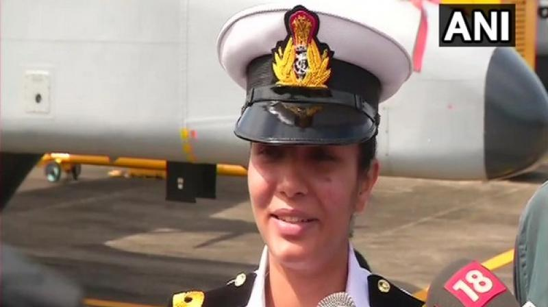 She was inducted into Indian Navy as SSC (Pilot) as part of 27 NOC course in Indian Naval Academy, Ezhimala and got formally commissioned by Vice Admiral AK Chawla, in June last year. (Photo: File)