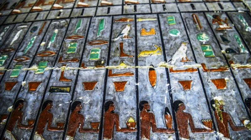The excavation team has unearthed several tombs related to the Fifth Dynasty. (Photo: AFP)
