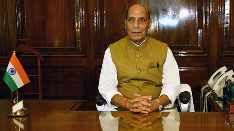 The minister also reviewed matters related to Indian Coast Guard. (Photo :Rajnath Singh | Twitter)