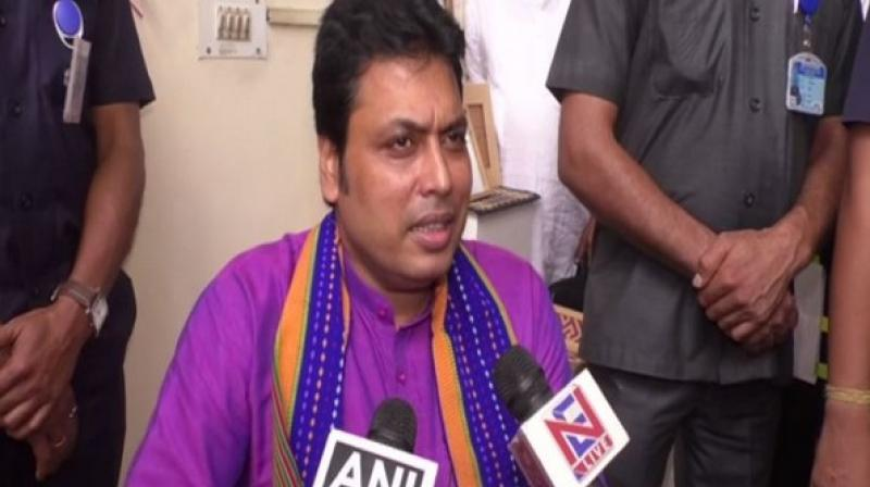 The charge of ministries held by Barman was allocated to Chief Minister Biplab Kumar Deb and Deputy Chief Minister Jishnu Dev Varma. (Photo: ANI)