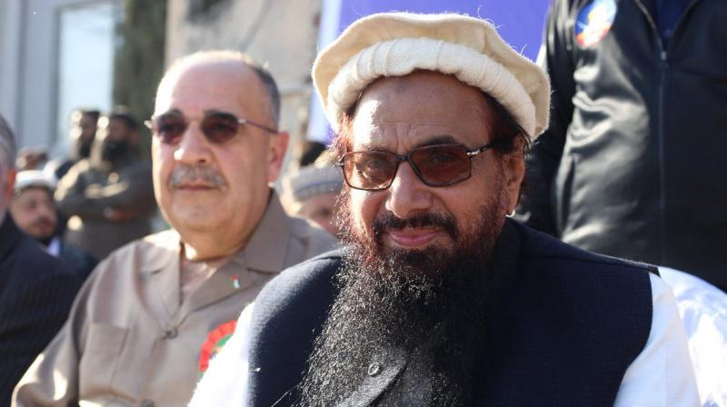 Pak govt initiated action against Hafiz Saeed's organisations in pursuance of an ordinance issued by President Mamnoon Hussain in February amending the Anti-Terrorism Act of 1997. (Photo: Twitter | @PakMNAOfficial)