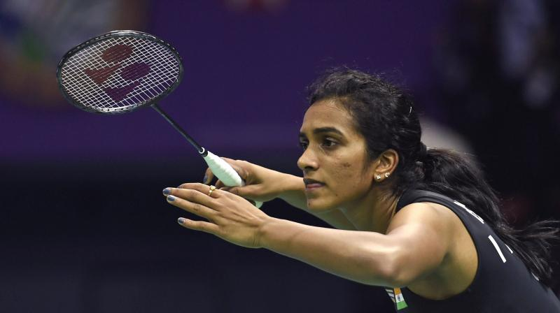 Top seed and defending champion Sindhu dumped Bulgaria's Linda Zetchiri 21-10 21-14 in the women's singles clash. (Photo: PTI)