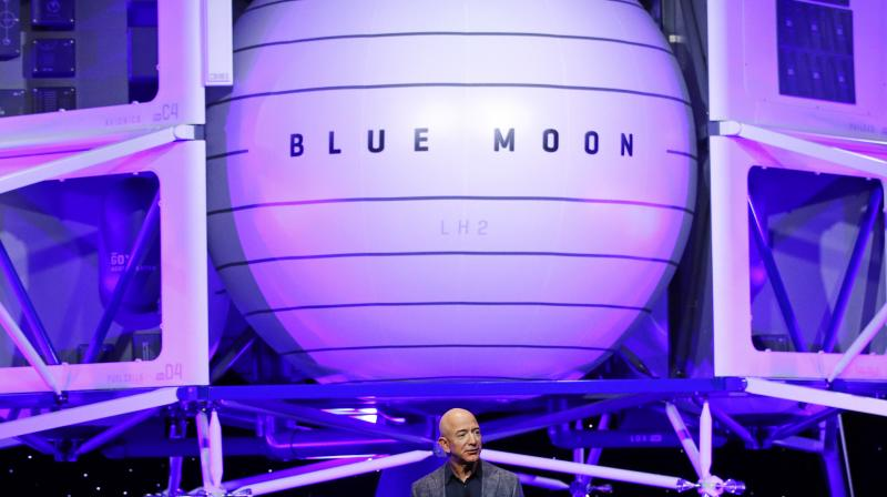 Blue Origin has previously discussed a human outpost on the moon. (Photo: AP)