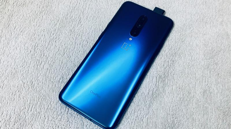 The OnePlus 7 Pro will be available in three colour options — Mirror Gray, Nebula Blue and Almond.