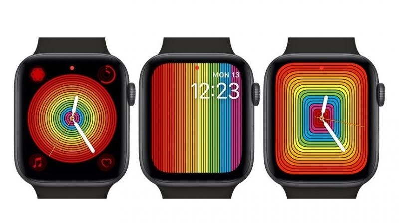 The new Pride watch face is vastly different from the 2018 version.