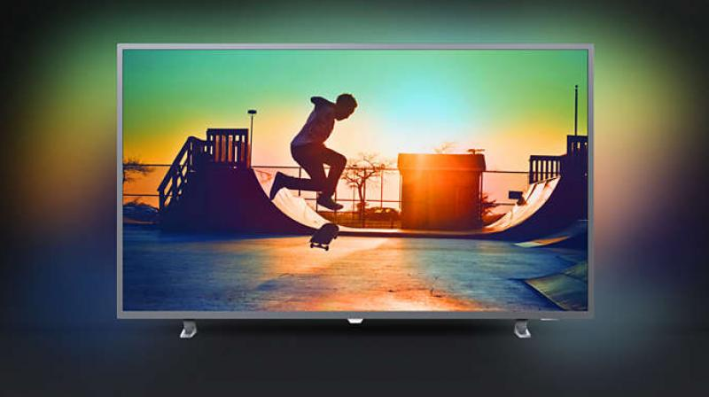 This Ultra HD TV promises to take the visual experience to an all new level with the Ambilight technology.