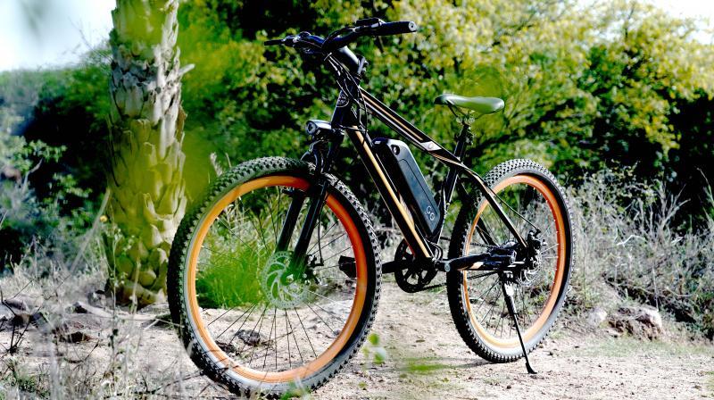 The Frameset of the GoZero One E-Bikeis made of Steel Hard tail.