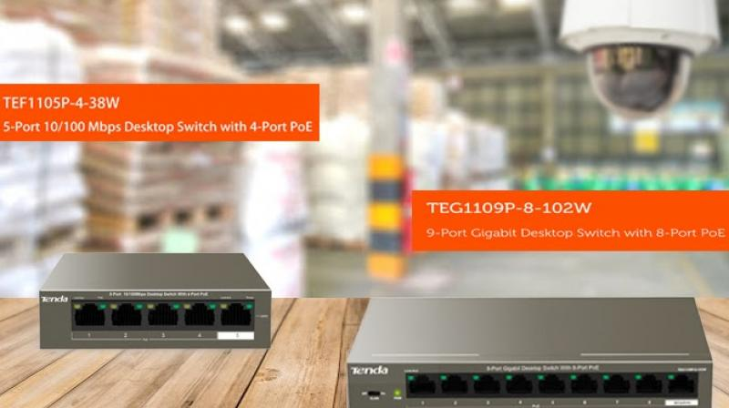 Looking at the need of the hour, targeting the surveillance industry, Tenda launched two powerful switches namely TEF1105P-4-38W and TEG1109P-8-102W.