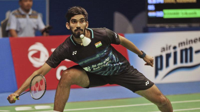 Kidambi Srikanth lost 11-21 21-15 20-22 to the unseeded Chinese at the Arena Birmingham here in a 52-minute battle. (Photo: PTI)