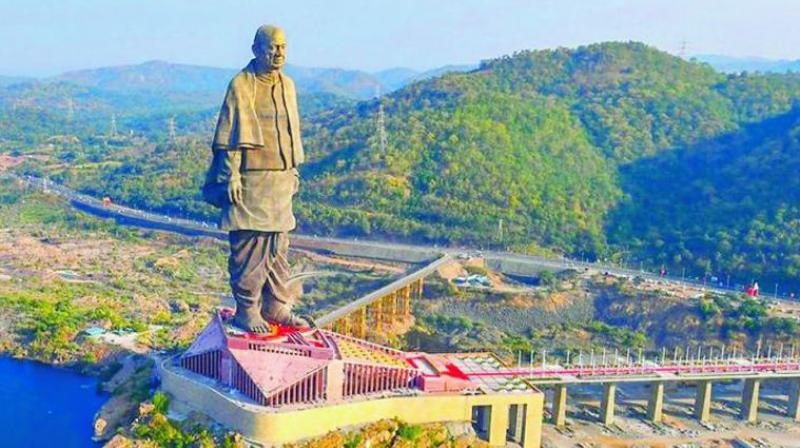 The Statue of Unity, the world's tallest statue is constructed at a cost of Rs 2,989 crore.