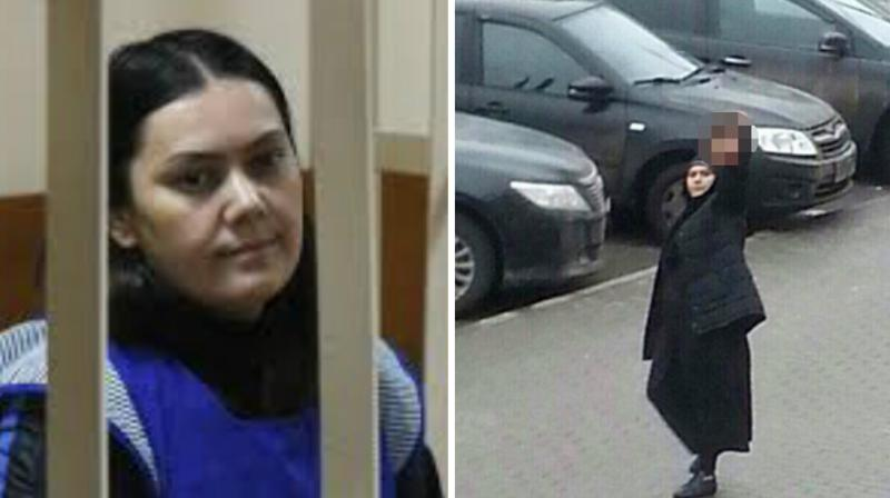 Bobokulova was arrested in February as she waved the severed head of four-year-old Anastasia outside a Moscow metro station. (Photo: AP)
