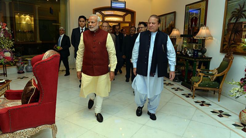 Prime Minister Narendra Modi with his Pakistani counterpart Nawaz Sharif. (Photo: PTI)